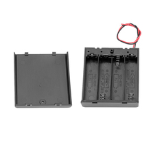 цена на 6V 4 X AA Battery Holder Case Cover Slot Holder Plastic Storage Box With OFF/ON Switch Wires For RC Parts For Output DC 6V