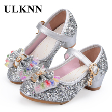 ULKNN Sandali per bambina Bambini Principessa Scarpe Farfalla Nodo Coloratamente Perline Glitter Party Dress Shoes For Girls Baby Kids