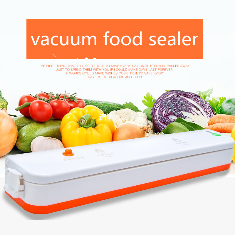 Vacuum Sealer 160W Automatic Food Packing Machine with Starter Kit bags Best for Household Food Saver Dry & Moist jiqi food vacuum sealer automatic vacuum wet and dry sealing packer electric plastic packing machine fruits saver with free bags