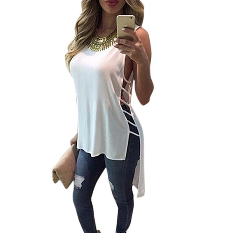 World fashion high quality ladies   blouse   Womens Casual Chiffon Vest Top Sleeveless   Blouse   Tank Tops   Blouse     Shirt   M 17