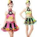 Niños Vestido Nación China Traje de la Danza Chica Chino Étnico Miao Danza Yangko Ropa de Baile ropa de la Danza Ropa 18