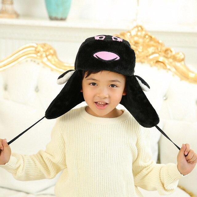 Winter Hats for Kids Bomber Hat Boy Kids Childrens Winter Hats Russian  Version Cossacks Soviet Cap Ushanka Cap with Earflaps 07fc53194c7
