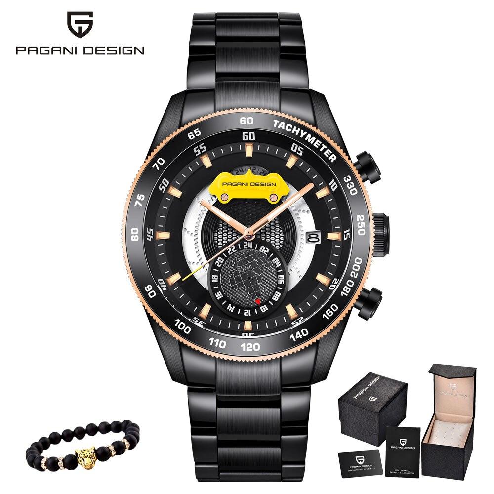 Pagani moda casual banda de luxo relógio esportivo masculino à prova dmilitary água militar masculino relógios de pulso negócios inoxidável relogio masculino