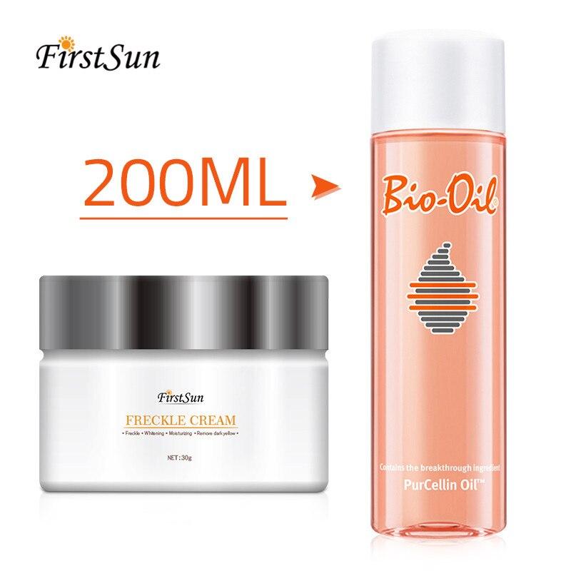 200ml Stretch Marks Remover Essential Oil Pregnancy Skin Care Treatment Cream Bio Oil  + Whitening Cream Remove Melanin Freckle