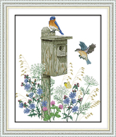 The Bird S Home Embroidery Needlework Crafts Embroidery Cross Stitch Bird Animal Cross Stitch Patterns Free