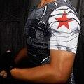 Soldado inverno 3D Impressos Camisetas Homens T Camisa Tee Vingadores homem de ferro Capitão América Guerra Civil Crossfit Aptidão Masculina Tops