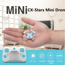 mini RC Drone Quadcopter helicopter CX Stars 4CH shatterproof Mode 2 RC helicopter UAV 4 axis