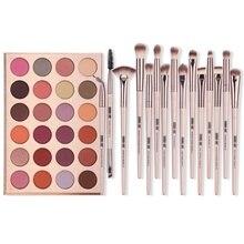 24-Colors Eyeshadow Palette + 12Pcs Eye Makeup Brushes Makeu