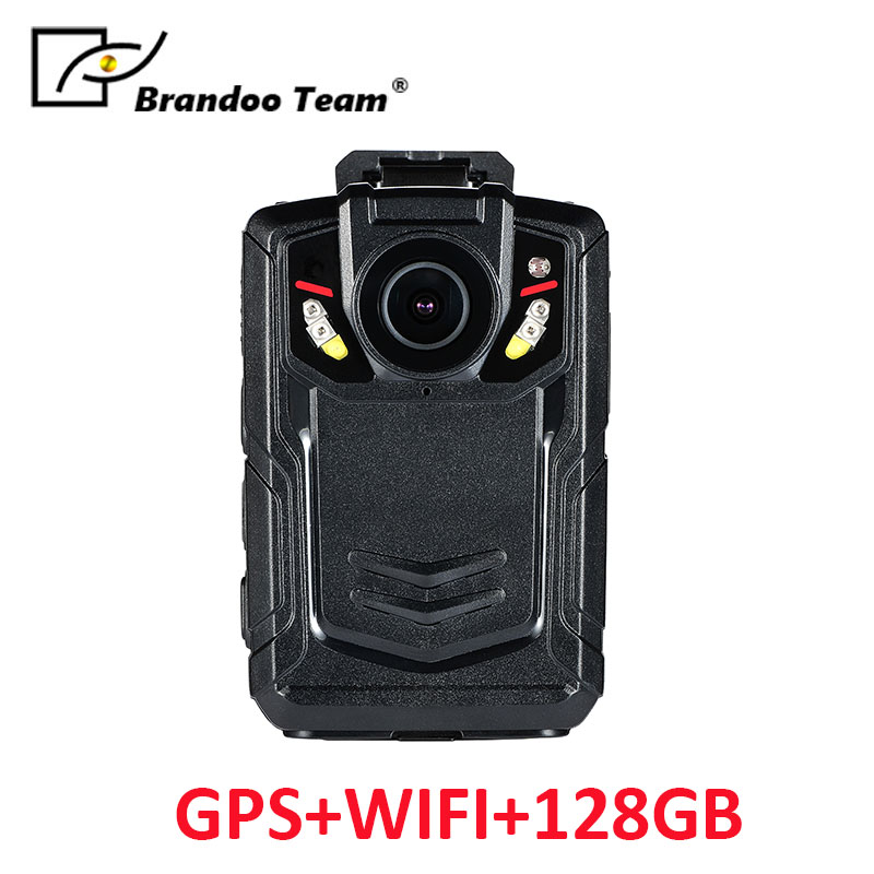 128GB Ambarella A12 Super HD 1080P Police Body Worn Camera IR Light with GPS and Wifi function free shipping ambarella a2 1080p 30fps hd police camera police body worn camera action body police camera