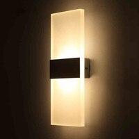 3W 5W 6W 10W Led Acrylic Wall Lamp AC85 265V Wall Mounted Sconce Lights Lamp Decorative
