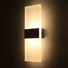 3W/5W/6W/10W Led Acrylic Wall Lamp AC85-265V Wall Mounted Sconce Lights lamp Decorative Living Room Bedroom Corridor Wall Lights