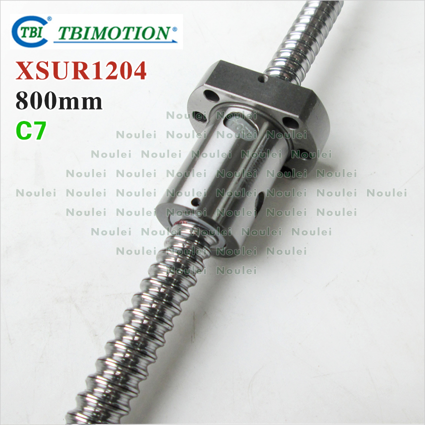 Taiwan TBI SFU1204 C7 ball screw 800 mm with XSU single ballnut XSU1204 and machined for 3d printer parts CNC kit 12mm set горелка tbi sb 360 blackesg 3 м