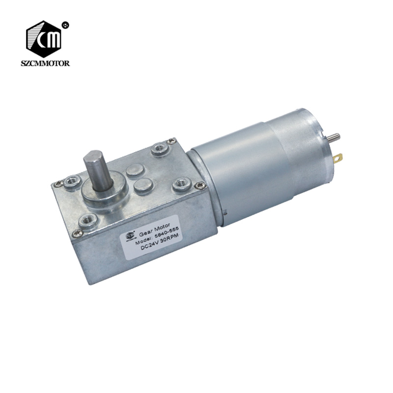 58mm*40mm Gearbox Reducer High Torque 70kg.cm 12V 24V Worm Gear Motor High Power Worm Geared Motor Low RPM Gearmotors 5840-55558mm*40mm Gearbox Reducer High Torque 70kg.cm 12V 24V Worm Gear Motor High Power Worm Geared Motor Low RPM Gearmotors 5840-555