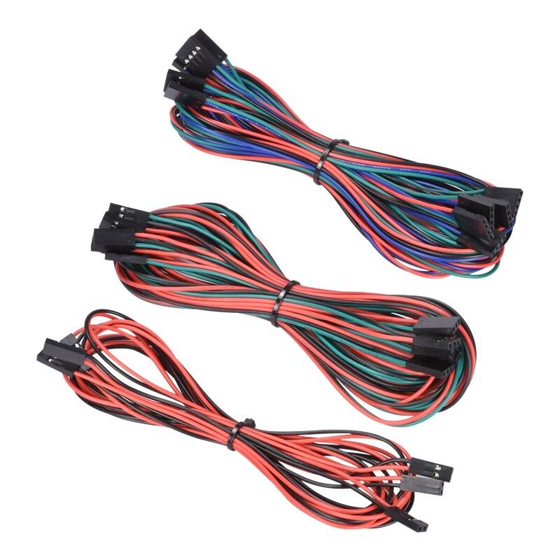 1 lote 14 PCS Cabos de Fiação Completa Para Impressora 3D Reprap RAMPAS de 1.4 Fim de Curso Termistores Motor littlebits