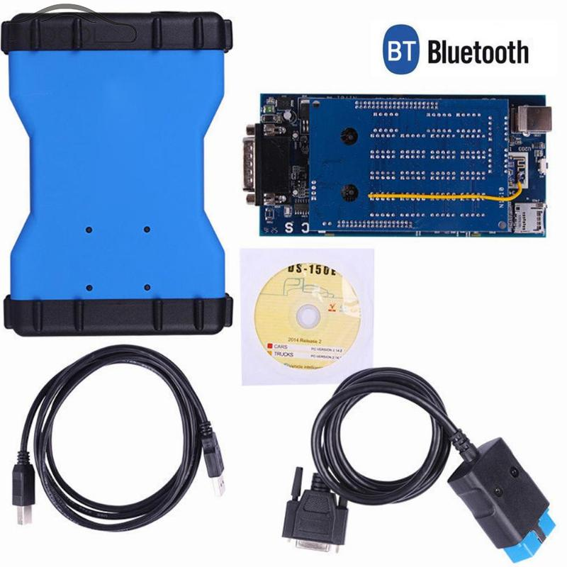 VODOOL Bluetooth TCS CDP Pro Plus Truck Auto OBD2 Code Scanner Scan Tool OBDII Diagnostic-tool Kit for Autocom with CD with bluetooth function super tcs cdp pro plus keygen led 3 in1 sn 100251 obdii obd obd2 scanner diagnostic interface cdp pro