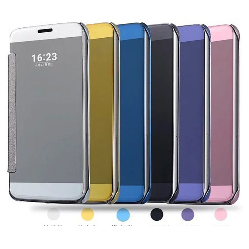 Case For Xiaomi Mi5 Mi5s Cover Smart Flip Window view Electroplating Mirror Smooth For Xiaomi Mi