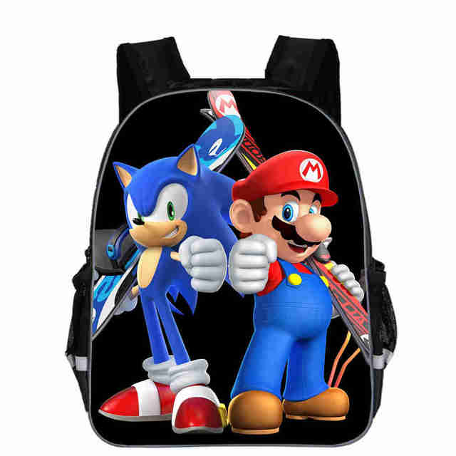 super mario backpack anime game sonic bro fnaf animal casual