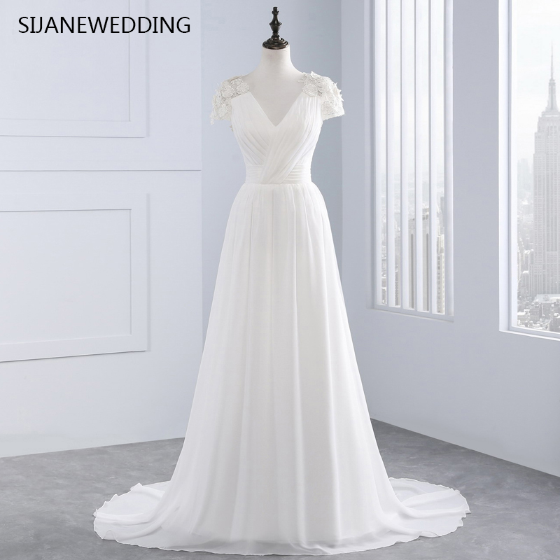 Romantic Weddings Simple: SIJANE Romantic Simple Beach Graceful Wedding Dress