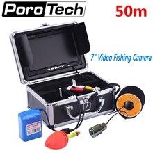 SY703 50m 1000TVL HD Waterproof Fish Finder Underwater Camera 7″ Video Underwater Fishing Camera kit IR LED Fish Camera