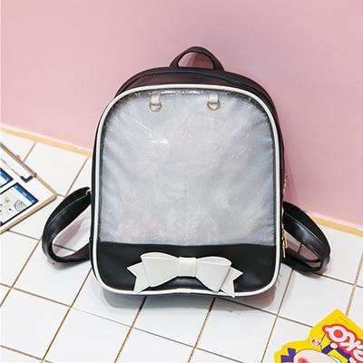 Clear Transparent Backpacks Women Harajuku Bow-knot Itabags Bags School Bags for Teenager Girls Designer Ita Bag Bookbag Bolsa | healthy feet socks