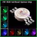 50 unids/lote grano led 3 W RGB llevó la viruta 300mA 3.0-3.6 V epistar llevó fuentes de iluminación de diodos para el bulbo llevado/llevó la lámpara