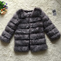 CP Marca Largo Invierno Mujeres Abrigo de Piel Abrigos de Imitación de Piel de Zorro Furry Lujo Mujer Fake Fur Jacket Plus Size Faux Fur Coat chaqueta