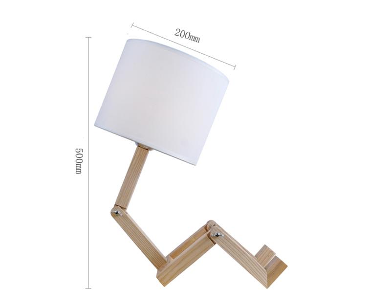 Nordice Modern Creative Gifts Foldable Robot Desk Table Lamps Wooden Base Table Lamp Bedside Reading Desk Lamp Home Decor Light Fixture (13)