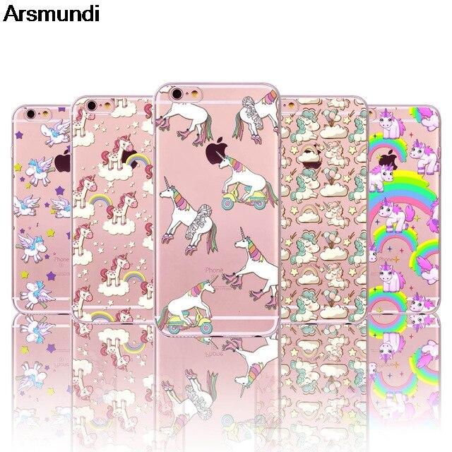 Arsmundi font b 2018 b font NEW Cute Unicorn Phone Cases for font b iPhone b