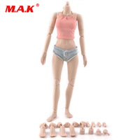 1 6 Female Body Figure Large Mid Little Bust Pale Color With Super Fexible Joints 92004