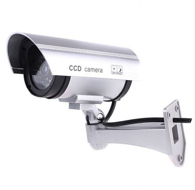 Sliver Bullet IR Fake Dummy Surveillance Security Camera with Light LED Sensor|cameras camera|camera with sensor|camera ir - title=