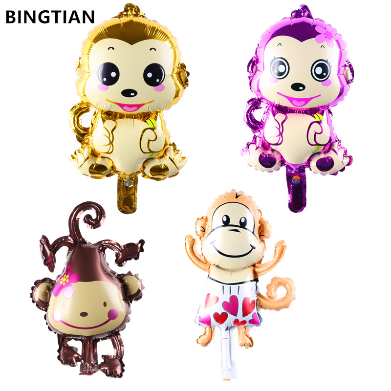 BINGTIAN inflatable mini monkey balloon game decoration supplies ballons globos kids birthday party monkey balloon