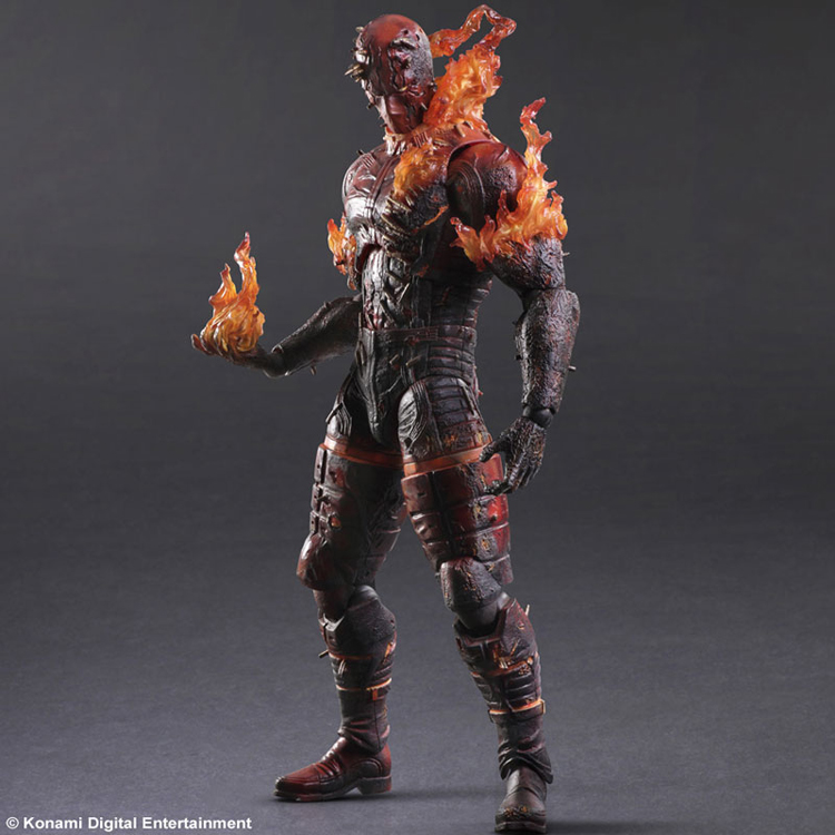 Play Arts KAI Metal Gear Solid V The Phantom Pain MAN ON FIRE PVC Action Figure Collectible Model Toy 28cm KT3409 25cm play arts kai metal gear solid 5 the phantom pain quiet venom snake pa pvc action figure doll toys kids gift brinquedos