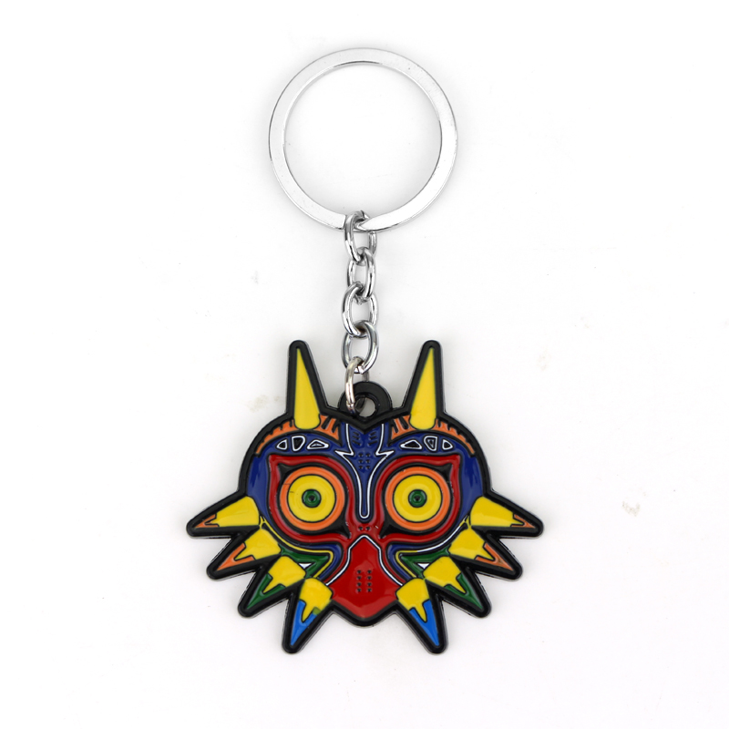 MQCHUN The Legend of Zelda Keychain Majora Mask Key Rings Holder For Gift Chaveiro Car Key Chain Game Jewelry Souvenir