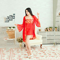 Hot Women Sexy Intimates Lace Robe Sleepwear Lingerie Nightdress G-string Sleep wear Sleepshirts