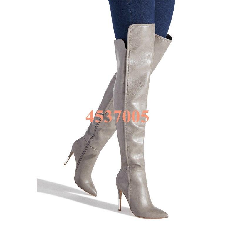 Cuero Cremallera as Tacón As Pic De Zapatos Pic Mujeres Encima Rodilla Mujer Invierno Alto Las 2019 Botas Muslo Alta Por Diseño La Nuevas Otoño Moda Del S7vSzq