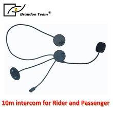 Helmet Intercom mini usb Earphone Microphone Motorcycle Helmet BT Intercom interphone headphone