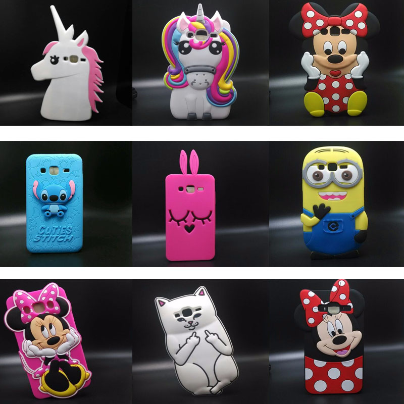 3d cartoon silicone cover for coque samsung galaxy j3 case j300 j300f phone cases for samsung