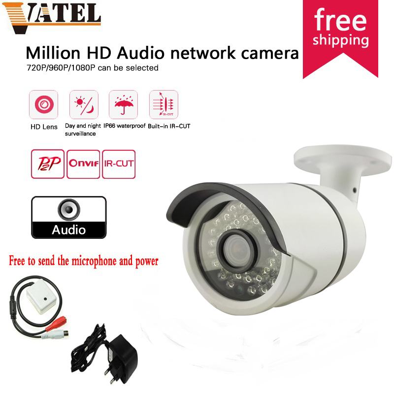 ФОТО Sony IXM322 1080P Audio IP Camera Outdoor ONVIF Security camera ip 960P 720P Waterproof IP Camera Night Vision P2P free shipping