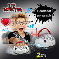 Tricky Funny Adjustable Adult Polygraph Test Micro Electric Shock Lie Detector Shocking Liar Truth Party Game