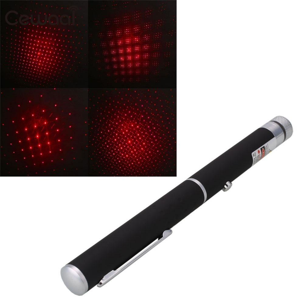 Cewaal 650nm 5mw Powerful Visible Red Beam Light Laser Pointer Pen w/ Star Cap +Box Office Meeting Use