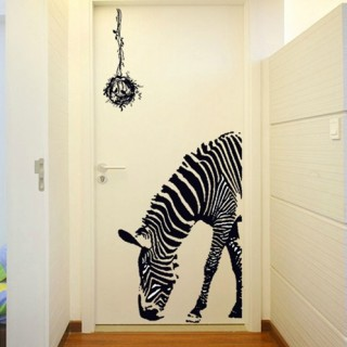 Zebra Wall Sticker Animal Wall Decals Cute Animal Stickers Home Decor Wall  Paper G0AY9030