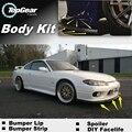 Lip Bumper Deflector labios para Nissan Silvia S13 S14 S15 200SX 240SX Spoiler delantero falda para TopGear Tuning / cuerpo Kit de gaza