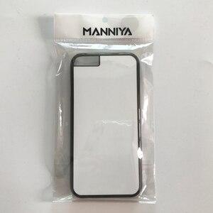 Image 4 - MANNIYA 2D Sublimazione Custodia in Plastica bianco per il iphone 6 6s con Inserti In Alluminio e nastro di Trasporto Libero! 100 pz/lotto