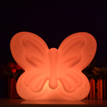 Romantic Butterfly Shape Led RGB Battery Power Colorful Table Lamps Kids Holiday Gift for Christmas Decoration free shipping 1pc