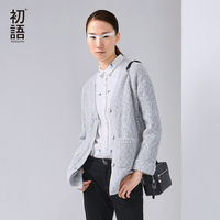 Toyouth 2016 New Arrival Women Acrylic Cardigans Sweaters Autumn Casual Pockets Button V Neck Sweaters