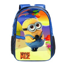Cute minions bag child backpack youngsters faculty luggage for ladies boys mochila escolar kids's backpack for age 1-5