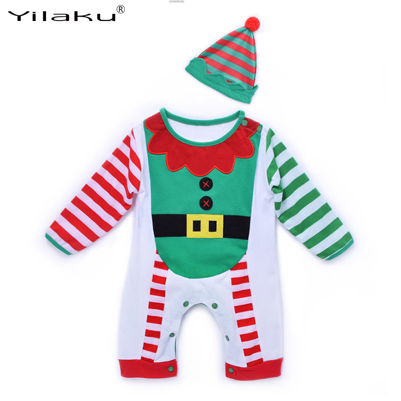 2017 Baby Christmas Costumes Newborn Baby One Piece Rompers Baby Boys Girls Clothes Infant Full Jumpsuits Coveralls ropa bebes cotton baby rompers set newborn clothes baby clothing boys girls cartoon jumpsuits long sleeve overalls coveralls autumn winter