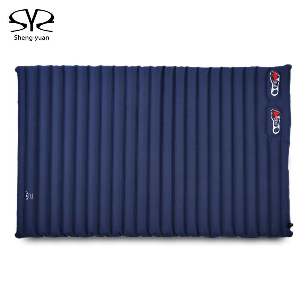 Shengyuan Outdoor Inflatable Cushion Sleeping Bag Mat Fast Filling Air Moistureproof Camping Mat With Pillow Sleeping Pad funny summer inflatable water games inflatable bounce water slide with stairs and blowers