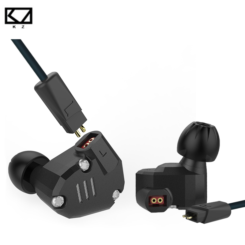 Original KZ ZS6 2DD+2BA Hybrid HIFI Music Headphone Stereo In Ear Earphone with Mic Wired Earbud Sport Metal Headset for Phone plextone x46m in ear earphone removable metal 3 5mm stereo bass earbuds gaming headset with mic for computer phone iphone sport
