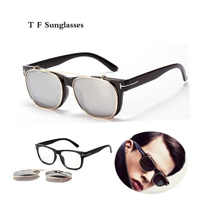 ef6b73c1562 Cool Clip On Sunglasses Tom Men 2016 New Fashion Vintage Mirror Glasses  Ford Women Brand Designer Steampunk Gafas de sol Points